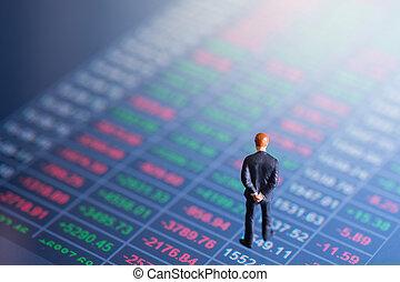 Concept of financial stock market.