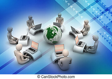 Concept of global business communication