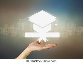 graduation - Concept of graduation in dark background.