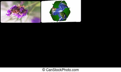 Concept of green technology - Montage presenting the concept...
