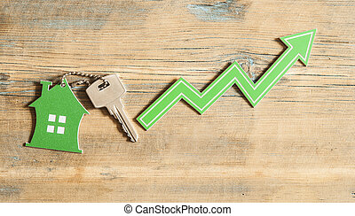 Concept of growth in sales of real estate