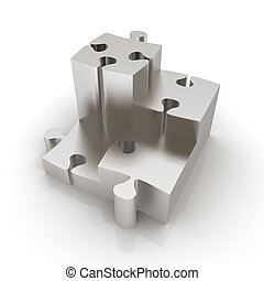 Concept of growth of metall puzzles