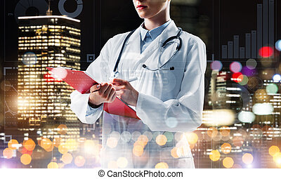 Concept of hard-working doctor