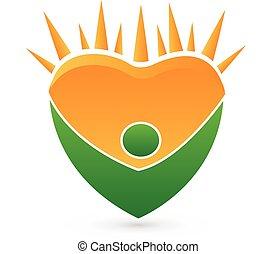 Concept of healthy vector logo