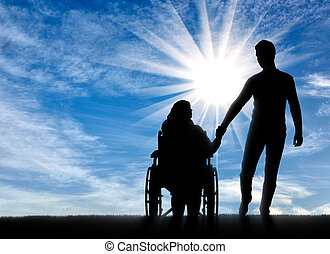 Concept of helping people with disabilities