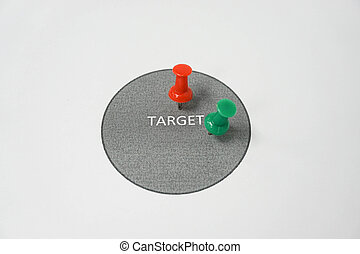 Concept of hit the target