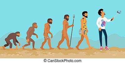 Concept of Human Evolution from Ape to Man