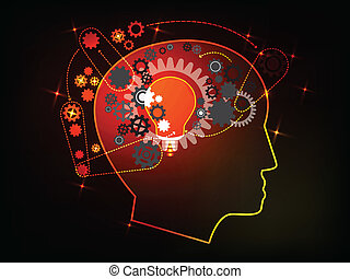 Concept of Human thinking model vector Illustration