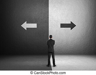 Concept of important choices of a businessman, Business Challenge