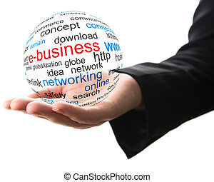 Concept of internet business - Transparent ball with word...