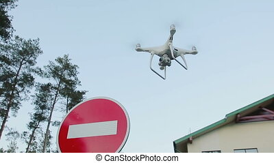 Concept of invasion of private property - Quadcopter is...