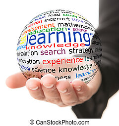 Concept of learning - Transparent ball with inscription...