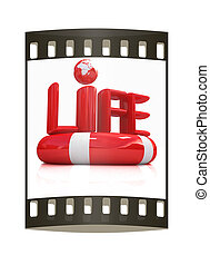 Concept of life-saving.3d illustration