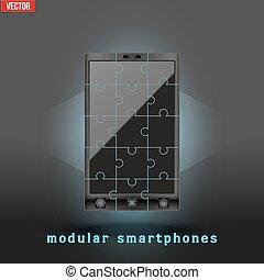 Concept of Modular smartphone.
