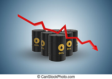 Concept of oil prices - 3d rendering