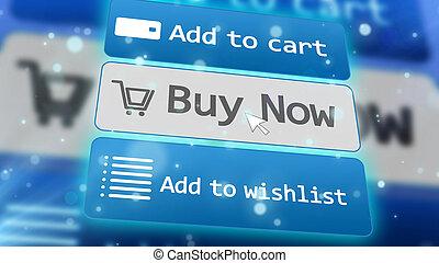 Concept of online internet shopping e-commerce.