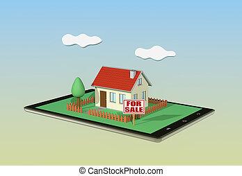 concept of online real estate market
