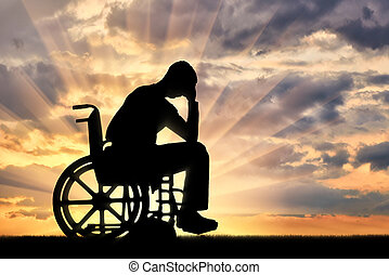 Concept of people with disabilities experiencing dipression