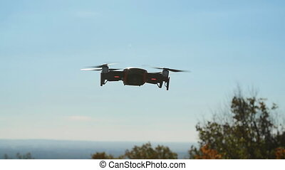 Concept of personal drones and aerial photography....