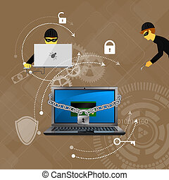 protection against hacking - concept of protection against...