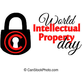 concept of protection of copyright, intellectual property in the form of an icon of copyright on the castle.