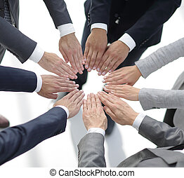 concept of purpose.closeup. hands business team