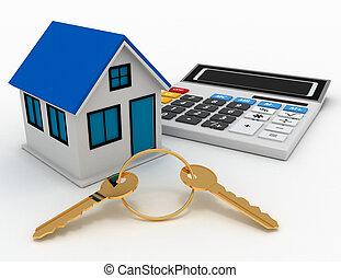 Concept of real estate. 3d illustration