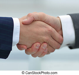 concept of reliable partnership. handshake - concept of...