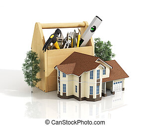 Concept of repair house. Repair and construction of the...