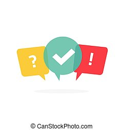 Concept of social communication, group chatting logo, voting discussion tag
