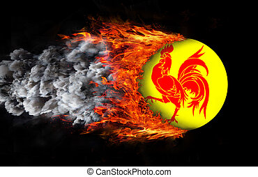 Flag with a trail of fire - Wallonia