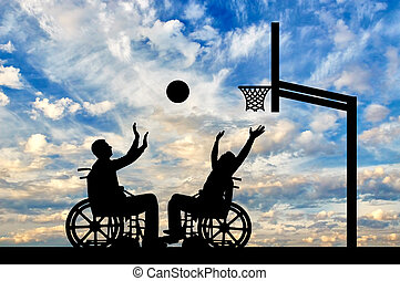 Concept of sports lifestyle people with disabilities