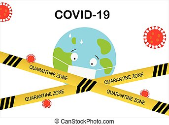 Concept of stop Covid-19 virus pandemic outbreak in the world