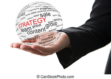 Concept of strategy in business - Transparent ball with...