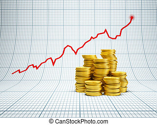 concept of successful investment, 3d rendering