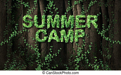 Concept of summer camp