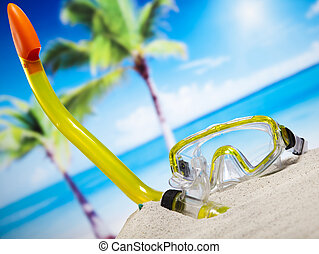 Concept of summer vacation, natural colorful tone