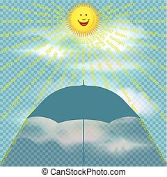 Concept of sunshine - Concept of sunny weather conditions ...
