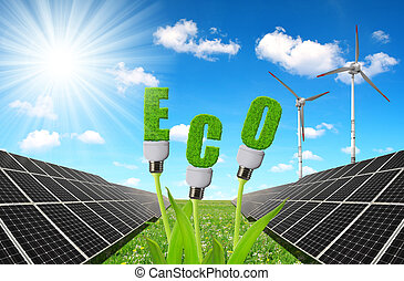 Concept of sustainable resources.