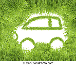 Concept of the eco-friendly car - The ecological car from...