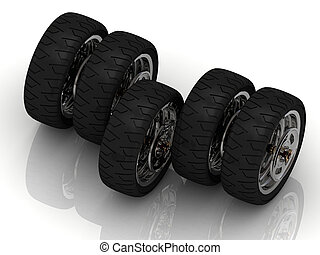 Concept of the five powerful wheels