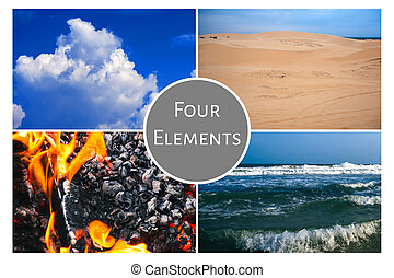 Concept Of The Four Elements: Earth, Water, Air, Fire