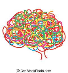 Concept of the human brain, vector
