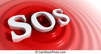 SOS symbol - concept of the SOS symbol