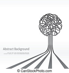 Concept of tree background design. Vector