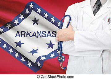 Concept of US national healthcare system - state of Arkansas