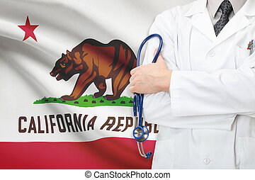 Concept of US national healthcare system - state of California