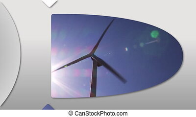 Concept of wind energy - Montage presenting the concept of...