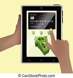 Concept of withdrawing money from an account