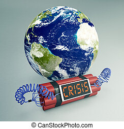 concept of world crisis - Elements of this image furnished by NASA
